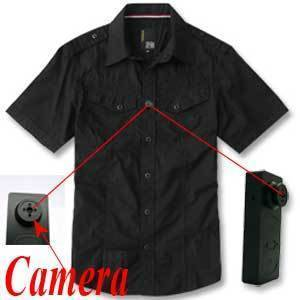 Spy Camera in shirt button